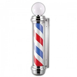 Iluminator Barber Shop - Semn (Sigla) Luminos Barber Shop American - POLE LED Barber Shop