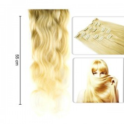 Extensii Deluxe Tape-On Par Natural Ondulat - Blond